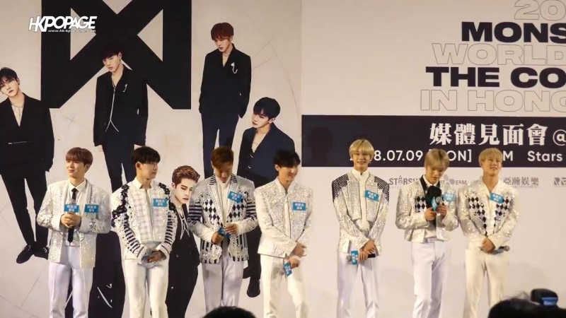 [VK][180709] MONSTA X Press conference THE 2nd WORLD TOUR 'THE CONNECT' in Hong Kong @ HK.KPOP.PAGE