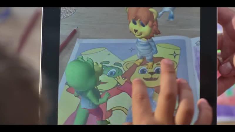 Детские Игры с Ожившими Раскрасками в Дополненной Реальность с Mr Croc и Leo