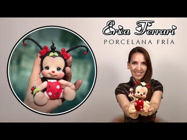 🐶 Erica Ferrari Porcelana Fría | Mariquita | Vaquita San Antonio | Ladybug | Clase Gratis | DIY |