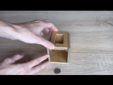 Как сделать копилку из картона - How to make a piggy bank from a cardboard.mp4
