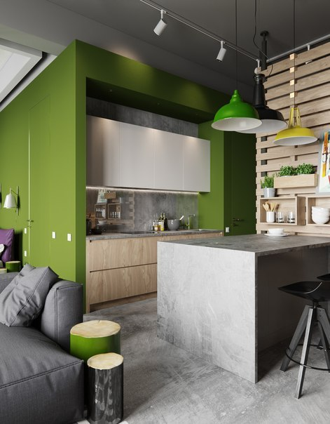 Небольшая холостяцкая квартира-студия