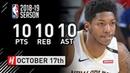 Elfrid Payton Official Pelicans Debut Full Highlights vs Rockets 2018.10.17 - 10 Pts, 10 Reb, 10 Ast