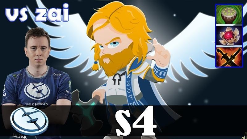 S4 - Omniknight Offlane | vs zai (Clinkz) | Dota 2 Pro MMR Gameplay