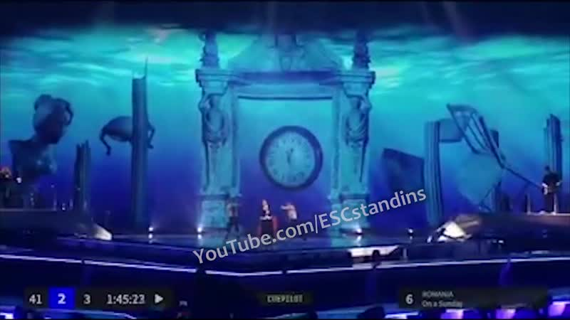 Romania Stand in rehearsal On A Sunday Originally by Ester Peony Eurovision 2019