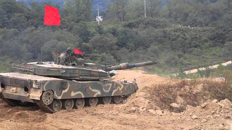 K2 탱크 사격 잠수. (K2 Tank fire. Diving)