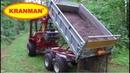 Kranman Bison 8000 sprider grus med DX220 flak och vibro.