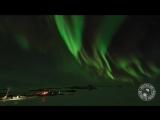 Танец южной Авроры (полярного сияния) над Антарктидой (сентябрь 2018 года).