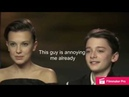 Millie Bobby Brown Annoying Noah Schnapp for 2 minutes straight