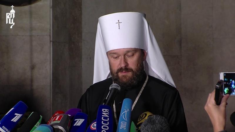 Состоялся бифинг по результатам заседания Священного Синода в Минске