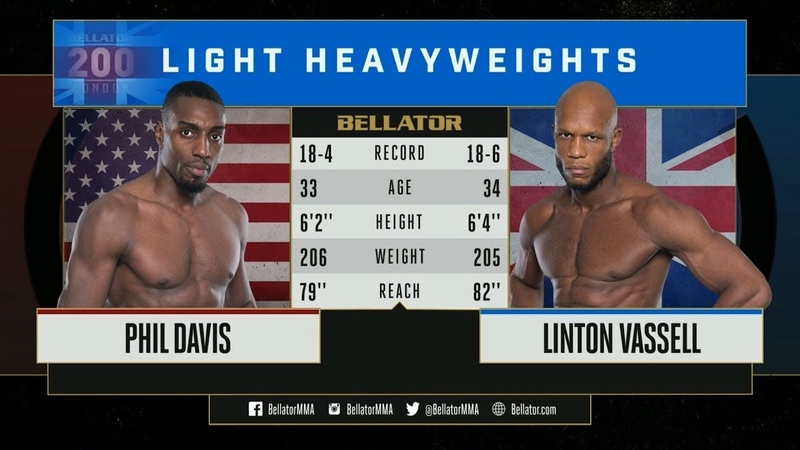 Bellator MMA Phil Davis vs. Linton Vassell - FULL FIGHT