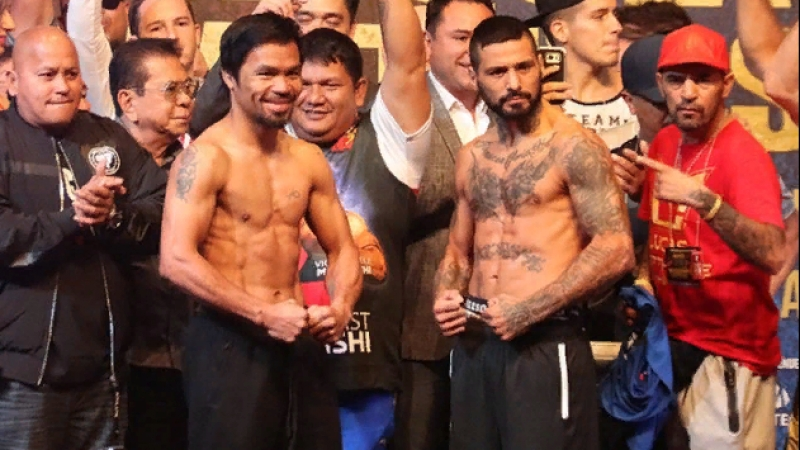 MANNY PACQUIAO LUCAS MATTHYSSE WEIGH IN