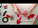 Роза из гофрированной бумаги, мастер-класс для начинающих_Paper roses DIY.mp4