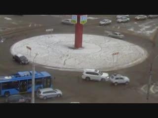 ДТП Абакан кольцо на Трудовой.