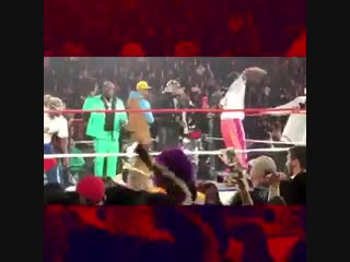 That moment when ASAP Rocky shows his wrestling skills at yamsday in Brooklyn.