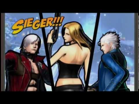 Ultimate Marvel vs Capcom 3 Arcade Mode Dante Trish Vergil Devil May Cry Team