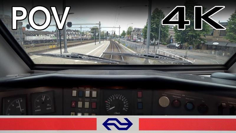 Slow train ahead..TRAIN DRIVER'S POV Hilversum - Schiphol VIRM 17mei 2019