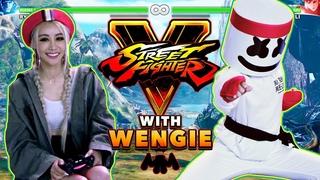 Wengie v. Marshmello 1v1 Street Fighter V Challenge | Gaming with Marshmello
