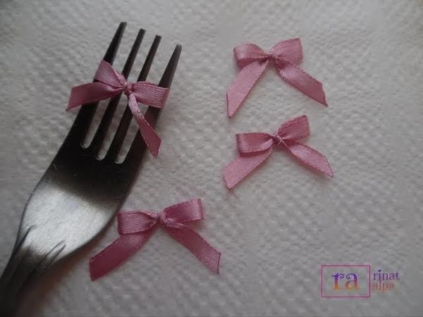 ✿DIY satin ribbon 01✿تزيين جهاز العروسة - بابيون صغير جميل 1