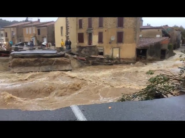 Flood in department Aude on october 15 2018 France