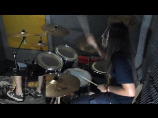 Slipknot - Surfacing Drum Cover With Joey Jordison Mask drum play-through by Jordan.mp4