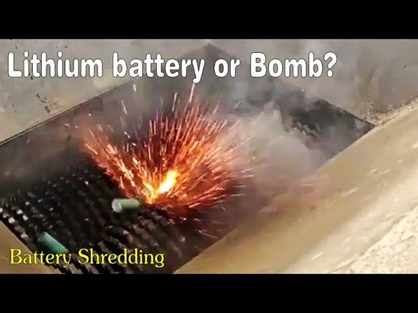 Daily shredding machine destroy:Lithium battery or Bomb?Car shock absorber/Army bed...Relax Video