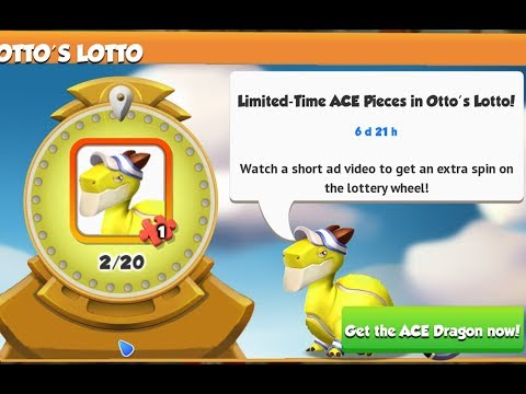 New! Limited - Time ACE Pieces in Ott's Lotto! Events - Dragon Mania Legends | Part 1097 HD