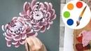 Chrysanthemum painting by a round brush version 2