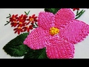 Hand Embroidery: Raised Double Sided Stem Stitch