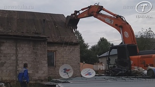В тульском Плеханово продолжают сносить цыганские дома