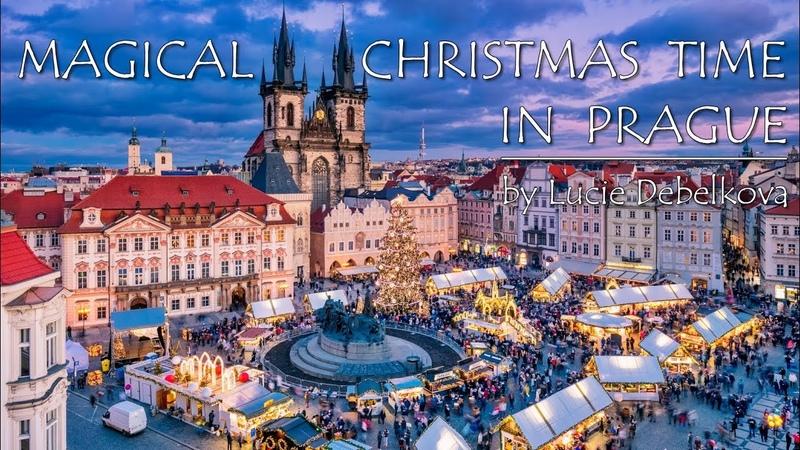 Magical Christmas Time in Prague Czechia Timelapse Video