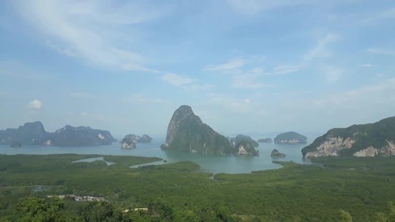 View point Samet Nang she. You looking on Phang-nga bay.