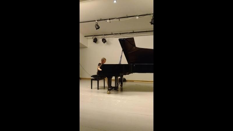 Концерт в музыкальной школе (Му-и-Рана, Норвегия).