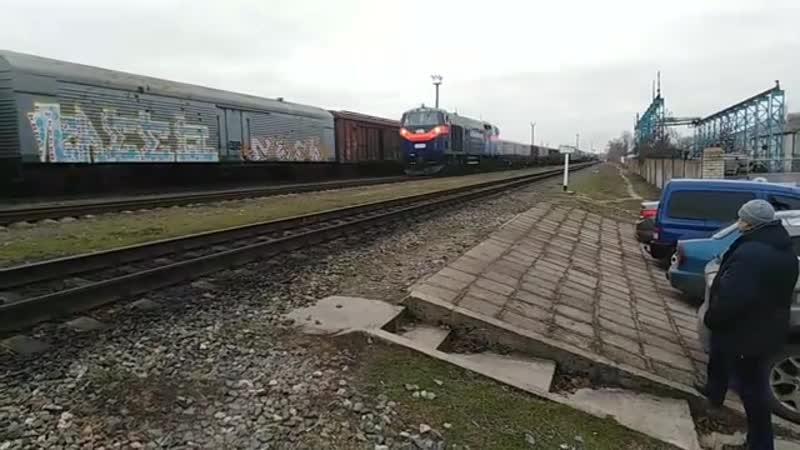 ТЭ33АС-2006. Украина, Херсонская область, станция Каховка