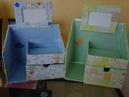 Novedades Organizador hecho de cartón para bebés / ♥