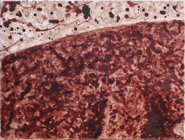 Художница 9 месяцев рисовала картину своей менструальной кровью Художница Тими Пал из Румынии вдохновилась своими критическими днями и нарисовала картину менструальной кровью. Кровавое полотно