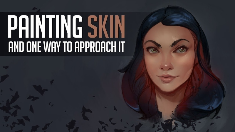 How I Paint Skin! Character Concept Art Tutorial
