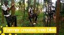 Фермер из Индии придумал «байк» для лазанья по деревьям