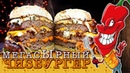 Чизбургер с тройной котлетой и перцем Халапеньо