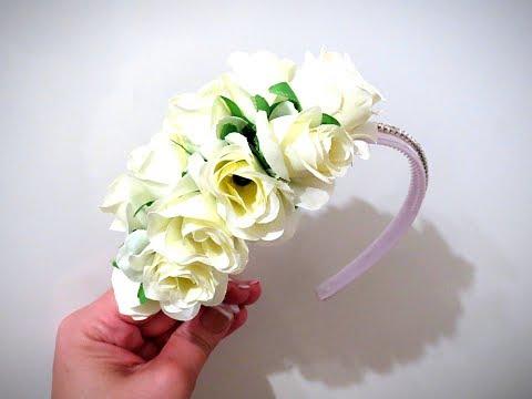 Обруч с пышными розами MK от NOEL DIY Hoop with lush roses