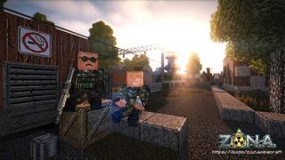 Z.O.N.A. Stalker Minecraft. Бандитизм и квесты. (не STALCRAFT)
