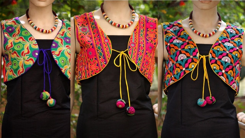 Mirror Work Embroidery JACKET Designs hand embroidery mirror work shisha work