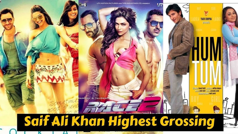 10 Highest Grossing Movies of Saif Ali Khan with Box Office collection