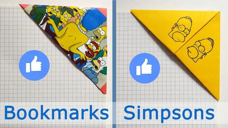 How to make BOOKMARKS SIMPSONS HOMER | ORIGAMI CRAFT out of paper Tutorial DIY