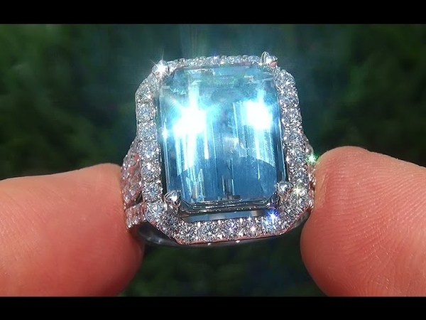 GIA Certified Estate Natural FLAWLESS Blue Topaz Diamond 14k Gold Vintage Ring - A131536