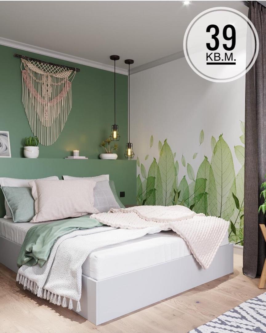 ⠀Светлая и уютная квартира для молодой девушки.