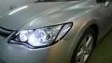 Honda Civic светодиодные фары Хонда Цивик замена стекла фары, чистка фары, тюнинг цивик