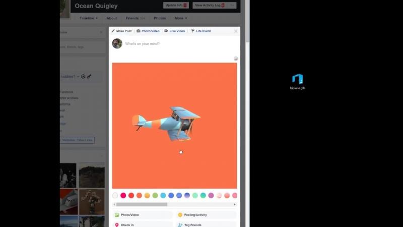 Facebook 3D Posts demo