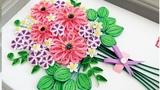 Paper Quilling Flower For beginner Learning Video 9 Paper Flower Card