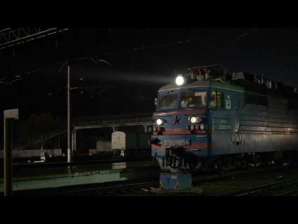 ВЛ80С-1854 отправляется со станции Чу, 03.11.13г.