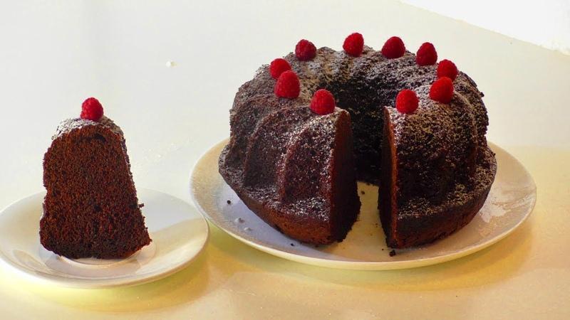Очень простой шоколадный кекс . Very simple chocolate cake.
